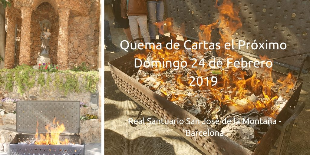 quema de cartas a San jose 2019