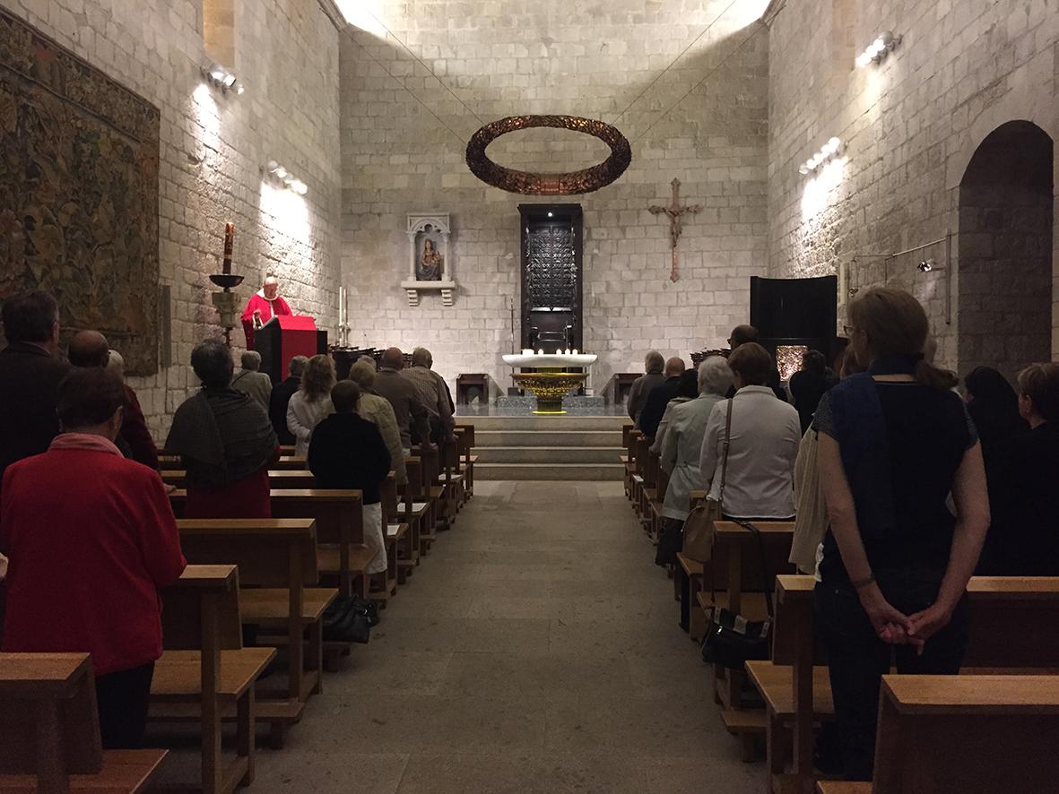 Visita Girona. Misa de agradecimiento.
