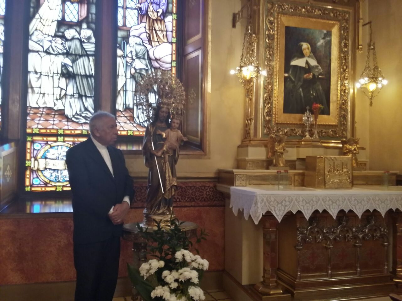 Visita al Santuario de Mons. Ramón Benito de la Rosa y Carpio