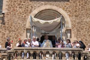 Solemnidad Corpus Christi Corpus 2015: altar en la explanada del Real Santuario de San José de la Montaña.