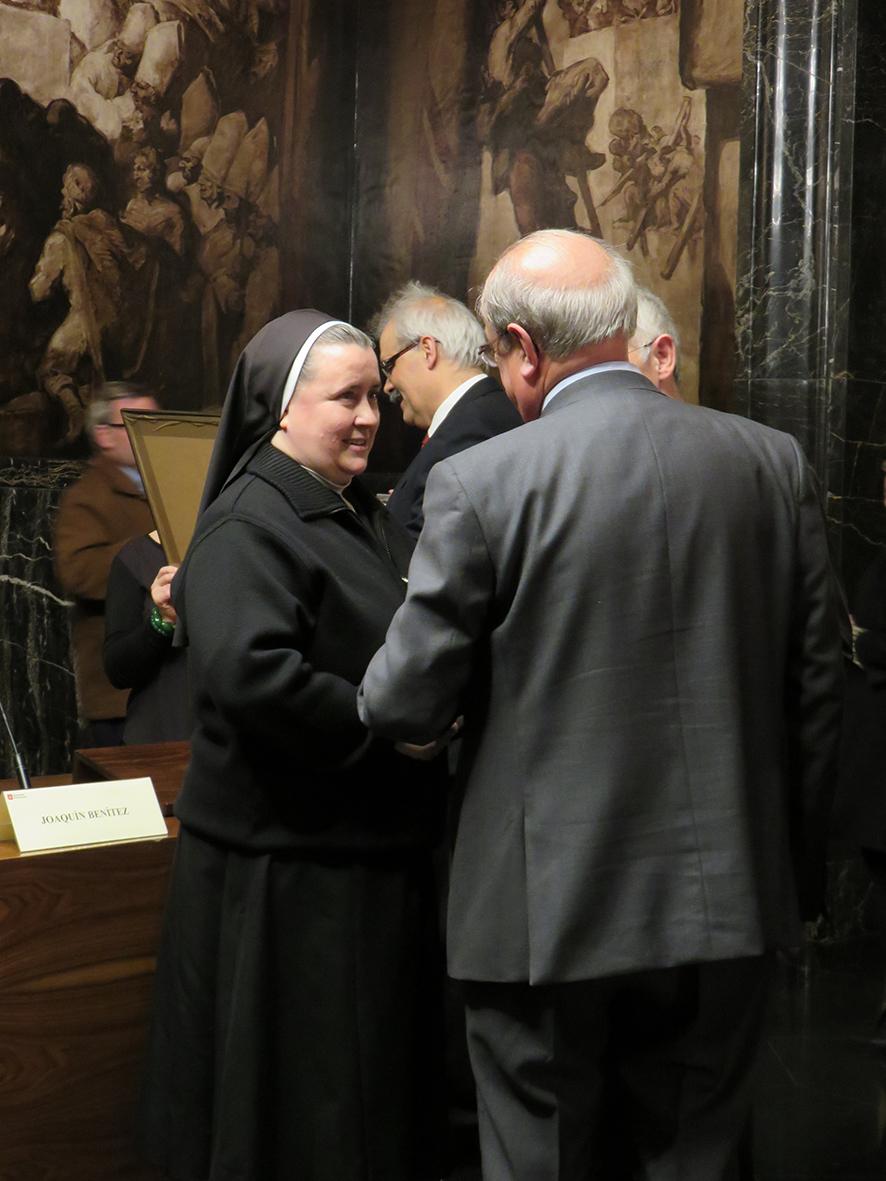 Madre Paloma García del Río. Ajuntament Barcelona. Premis Immaculada.