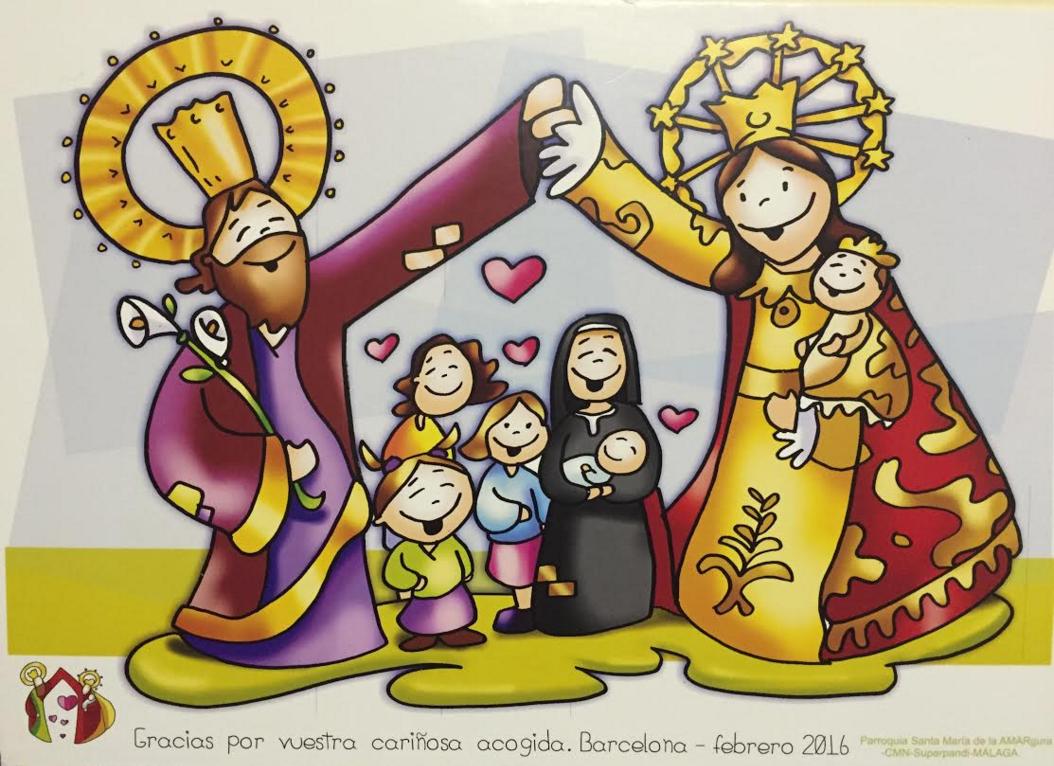 Fano dibujante catolico dibuja el carisma de los hogares de san jose de la montaña.