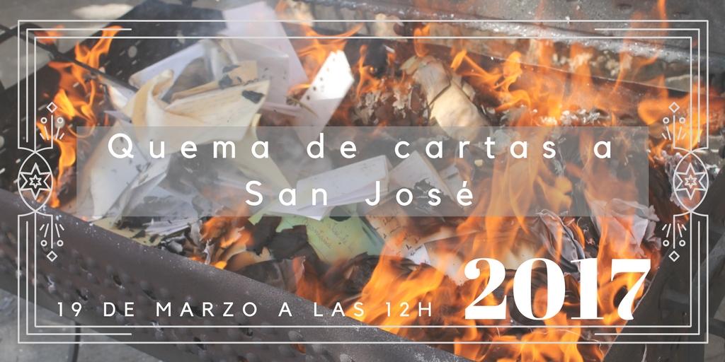 Quema de Cartas 2017, devoción a San José de la Montaña