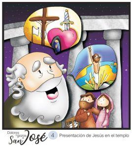 presentación de jesus en el templo