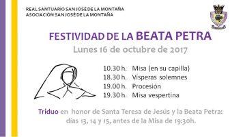 Festividad Beata Petra 2017