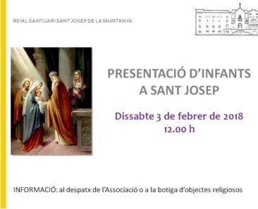 presentació infants a sant josep