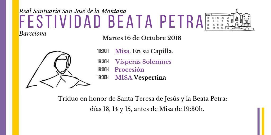 Festividad Beata Petra 2018