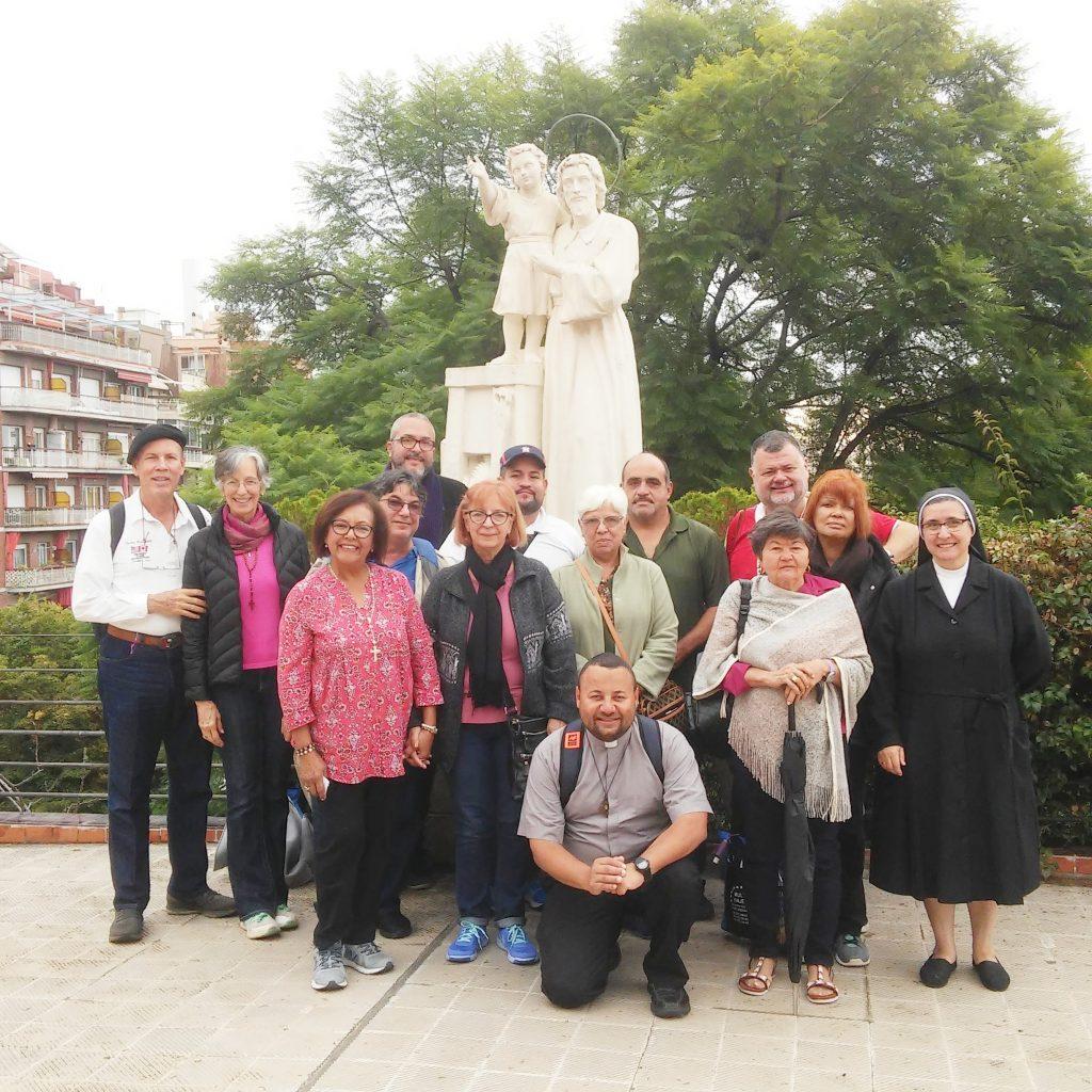 peregrinos en el real santuario san jose de la montaña