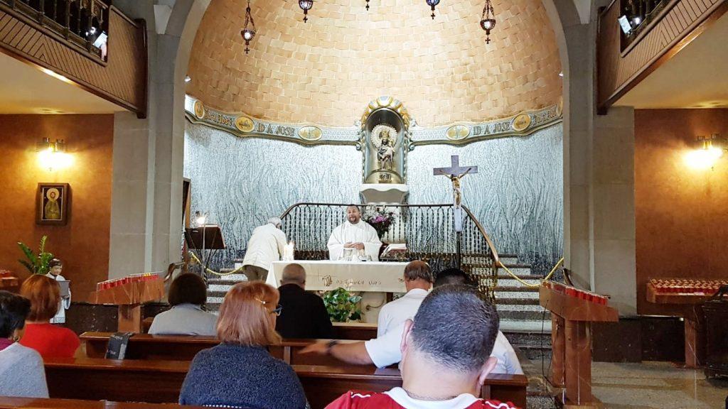 misa de peregrinos en la Capilla de san jose
