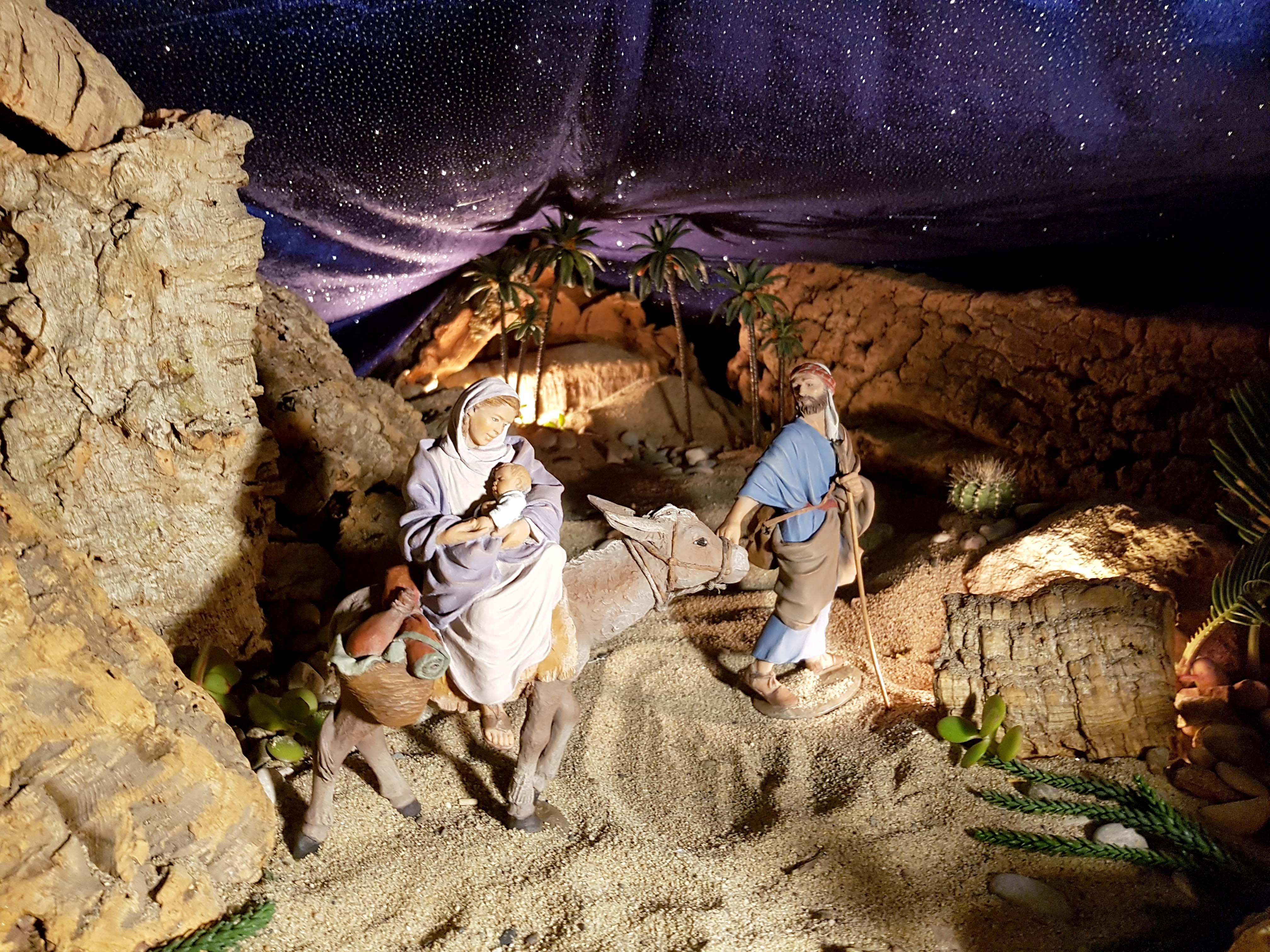 huida a egipto de la familia de jesus refugiados