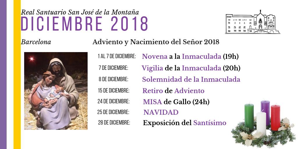 navidad 2018 santuario san jose barcelona