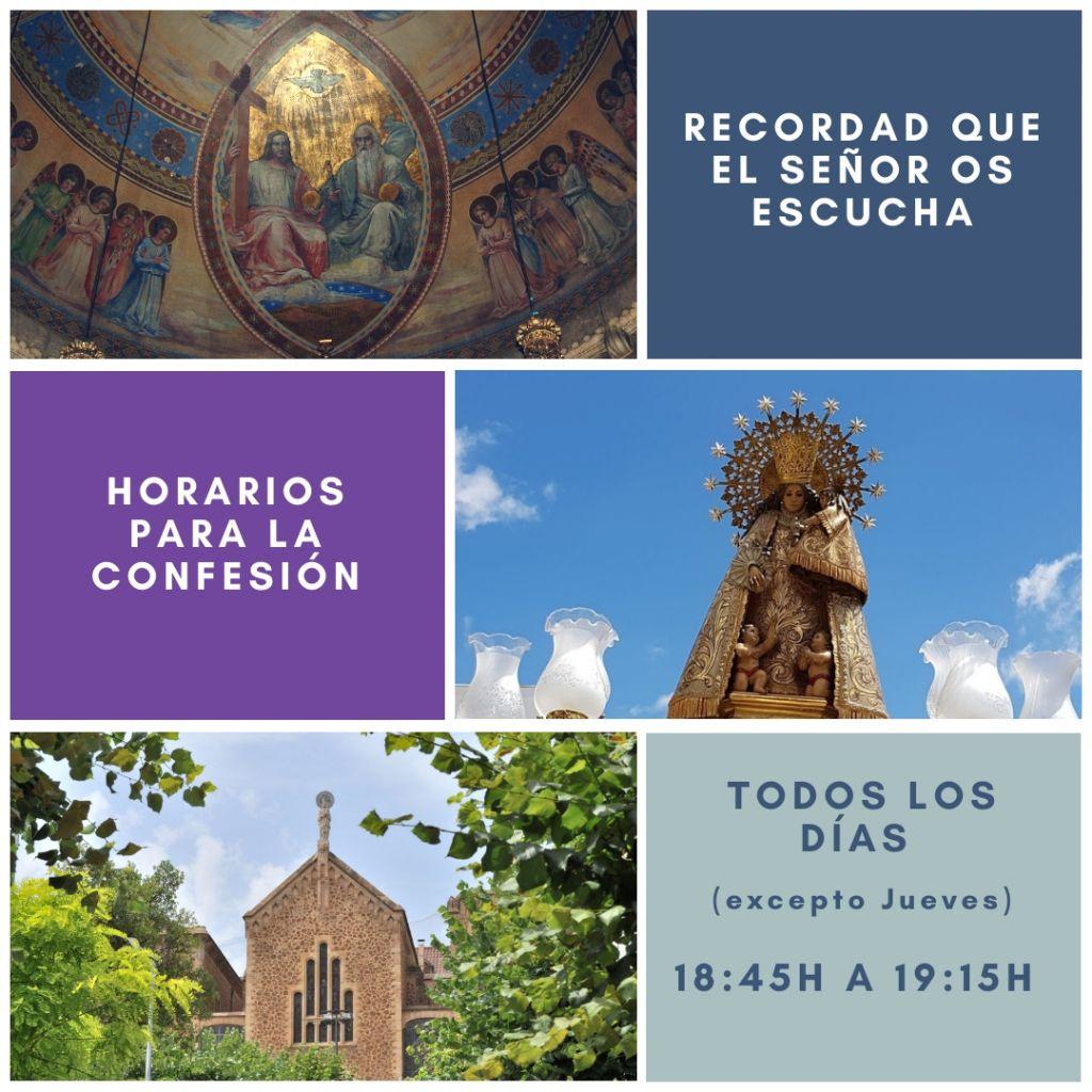 horarios de confesión