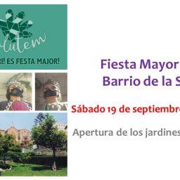 fiesta mayor en Barcelona barrio de la salud
