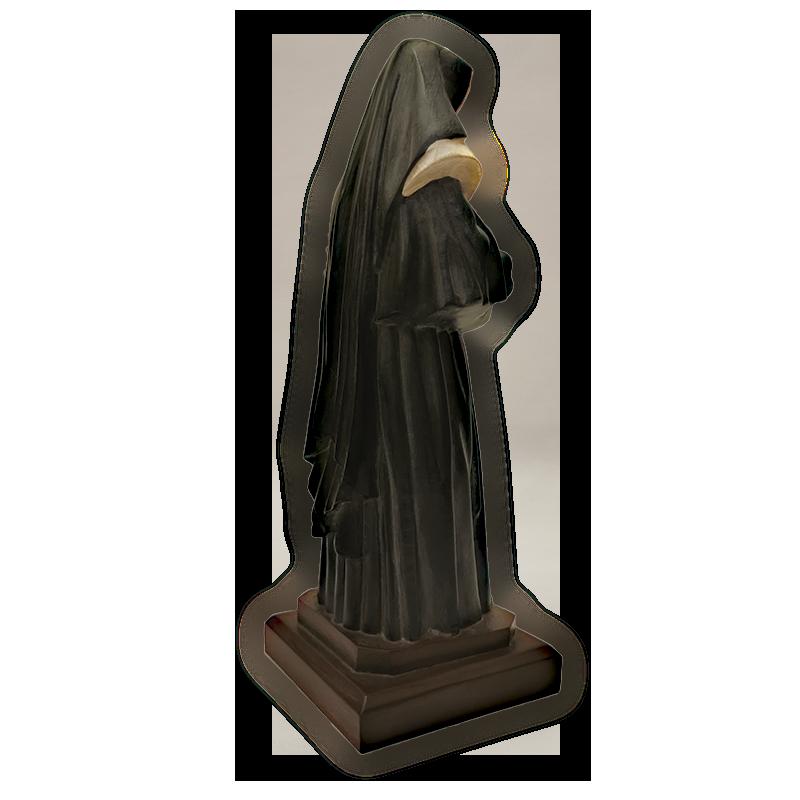 imagen de Madre Petra de espaldas