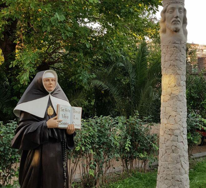 inauguración del monumento de San José de la Montaña y Madre Petra