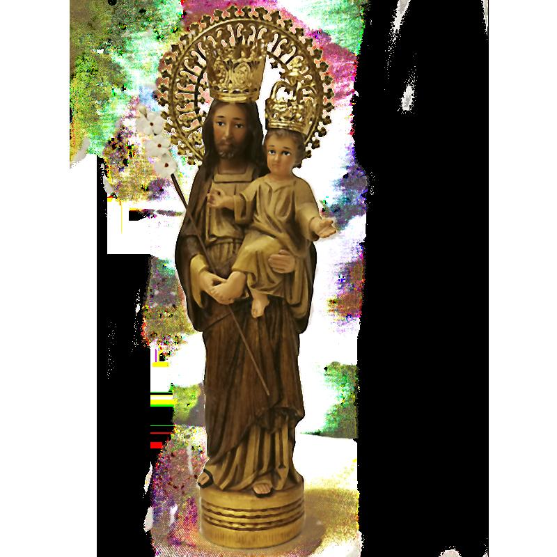 San José en tonos madera