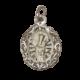 medalla de plata sobre rayos de sol