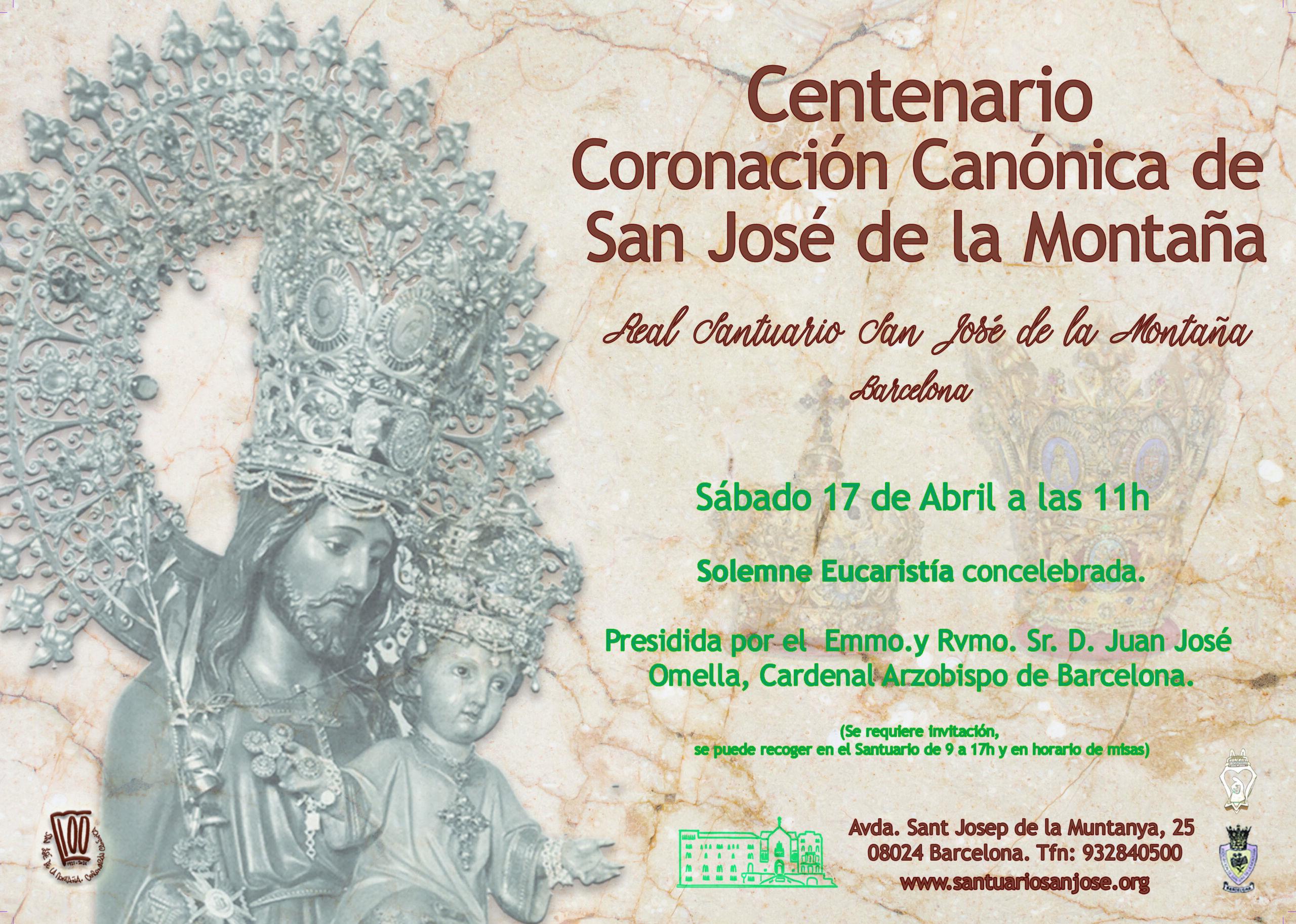 Centenario Coronación Canónica, cartel de inauguración el 17 de Abril de 2021