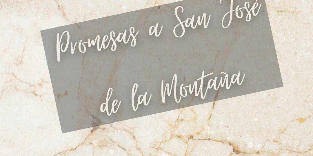 promesa a san jose de la montaña