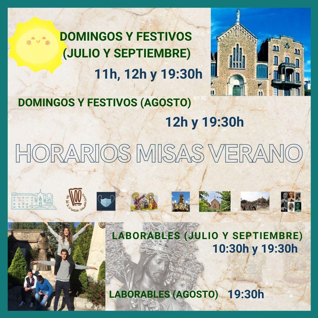 horarios misas verano barcelona