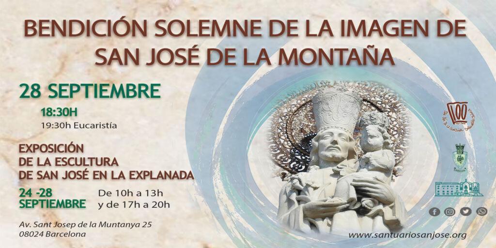 invitación a la solemen bendición de la imagen de san jose de la motnaña