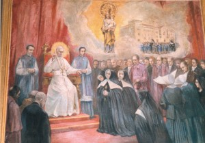 cartes a sant josep Pintura que representa a Madre Petra recibida en audiencia por S.S.Pío X, defendiendo el Santuario