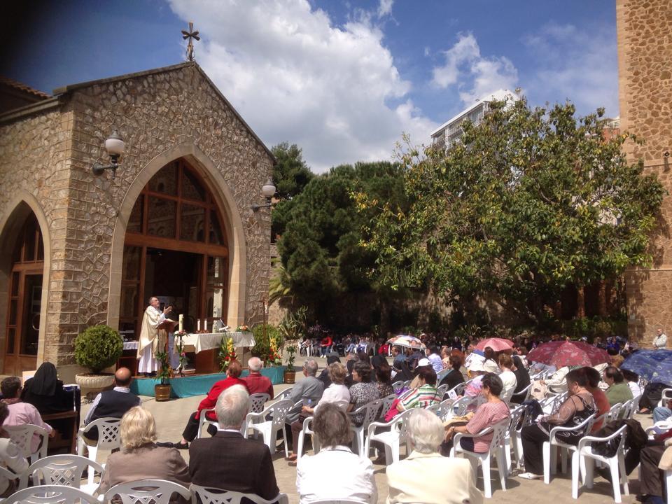 Misa de los enfermos en Barcelona. Real Santuario de San José de la Montaña.