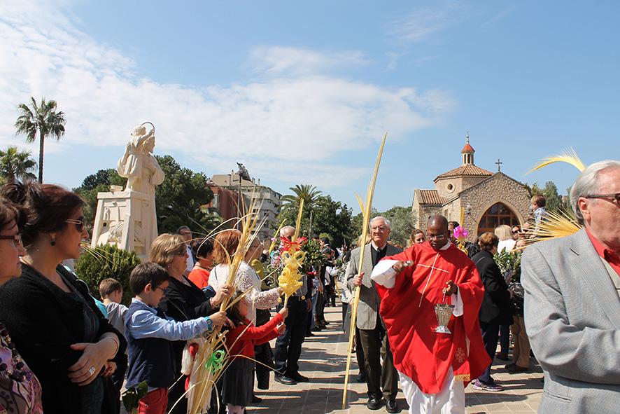 Domingo de Ramos. Celebración Religiosa. Barcelona. Semana Santa. San José de la Montaña.