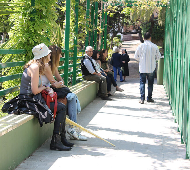 Can Tusquest. Jardines en Barcelona. Hogar San José.