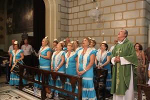 Misa Rociera en el Real Santuario de San José de la Montaña en Barcelona.