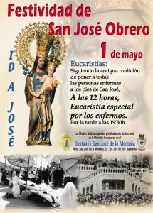 Misa de los enfermos. Santuario San José de la Montaña. 1 de Mayo.