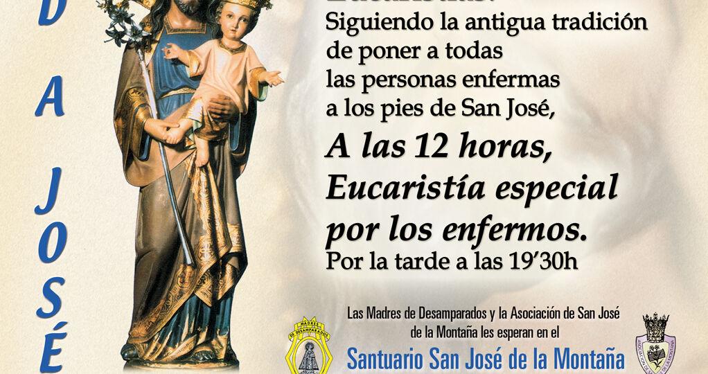 Misa enfermos Santuario San José de la Montaña. 1 de Mayo.