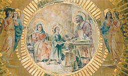 Devocion a San José - imagen pintada en el santuario
